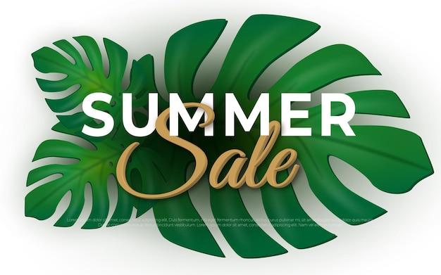 Summer sale tropical design for banner