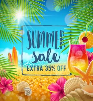 Summer sale vector design summer holidays and vacation illustration
