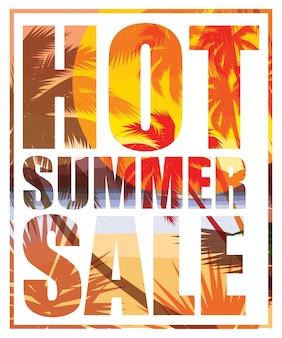Summer sale. vector template.