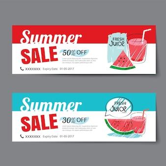 Summer sale voucher template