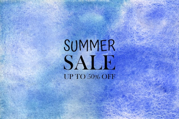 Summer sale watercolor   hand painted aquarelle colorful stains on paper
