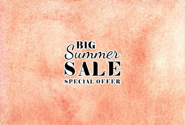 Summer sale watercolor hand painted   texture