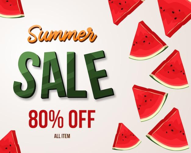 Summer sale watermelon