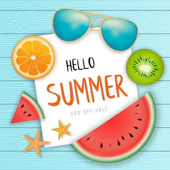 Summer sale web banner.