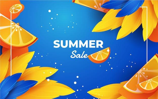 Летняя распродажа с долькой апельсина