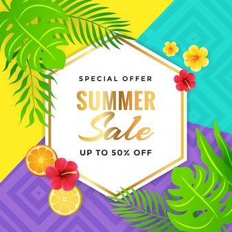Summer Sale with Tribal Background