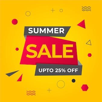 여름 판매 배경 무료 벡터