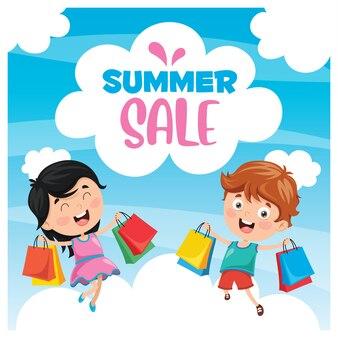 Summer sales banner