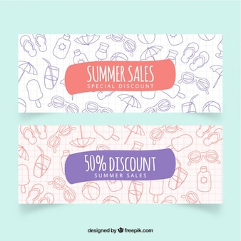 Summer sales banners