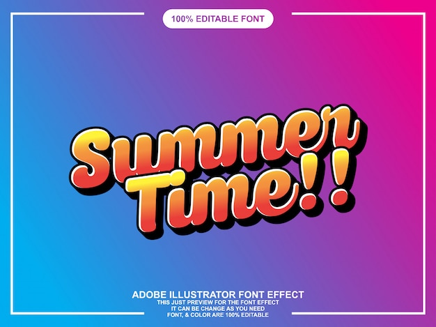 Summer script graphic style easy editable font