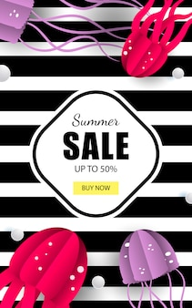 Summer sea banner sale
