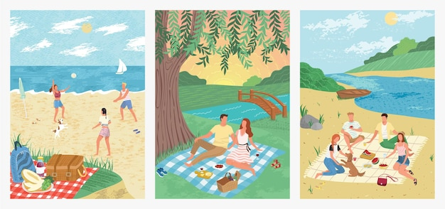 Summer sea vacation on tropical beach holiday concept illustration design