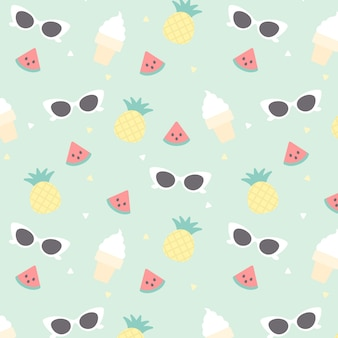 Summer seamless pattern background