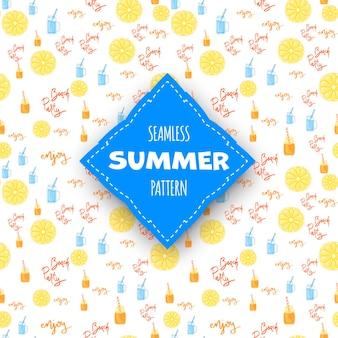 Summer seamless pattern. cartoon style. vector illustration.