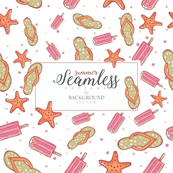 Summer seamless pattern design.blank space for text input.