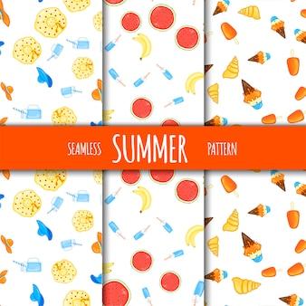 여름 완벽 한 패턴 세트