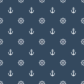 Summer seamless pattern with lifebuoys