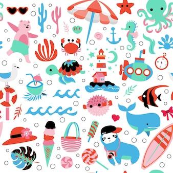여름 완벽 한 패턴