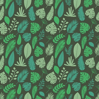 Summer season exotic leaves seamless background