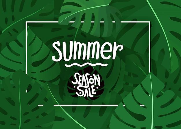 Summer season sale concept