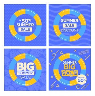 Summer season sale flyers templates