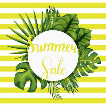 Summer seasonal sale vector template