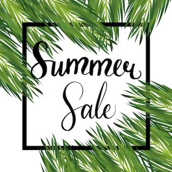 Summer seasonal sale vector template