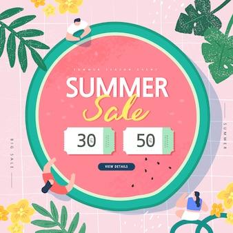 여름 쇼핑 이벤트 그림. 배너