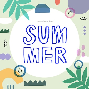 Summer shopping event illustration. .tropical