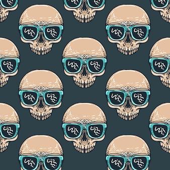Summer skull pattern