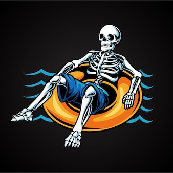 Summer skull swimming