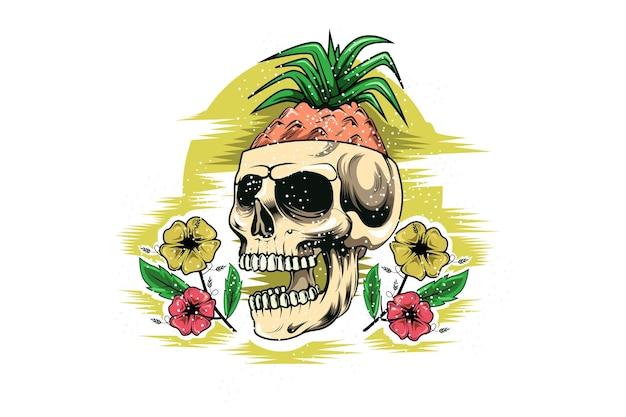 아름다움 꽃 손 그림 그리기 여름 두개골
