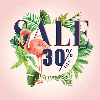 Summer social media advertising  holiday on sale discount.