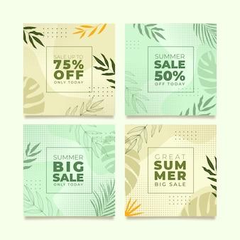 Шаблон ленты instagram для летней специальной распродажи