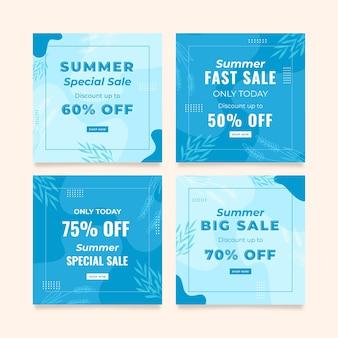 Summer special sale instagram post template