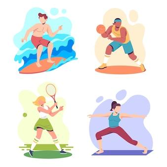 여름 스포츠 컨셉