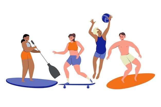 여름 스포츠 세트
