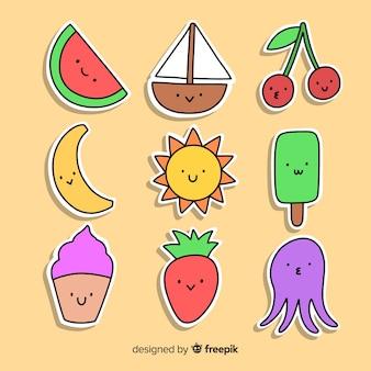 Summer sticker collection