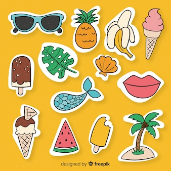 Summer sticker collection
