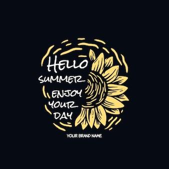 Summer sun flower illustration