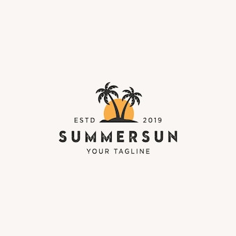 Summer sun logo