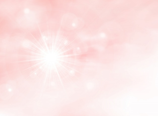 Summer sunburst on pink living coral color background