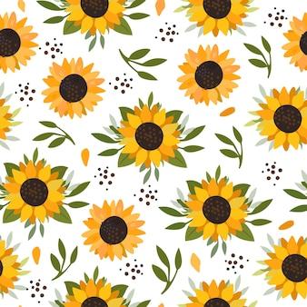 Summer sunflowers pattern