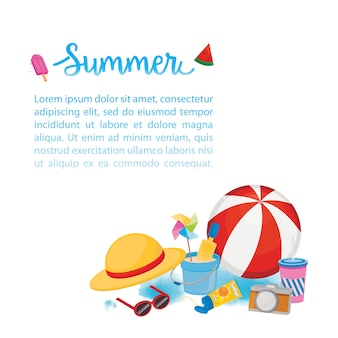 Summer template with accesories