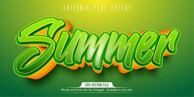 여름 텍스트, 만화 스타일 편집 가능한 텍스트 효과