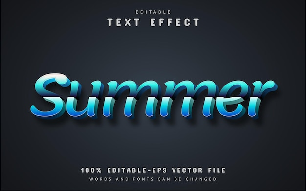 Summer text, editable text effect
