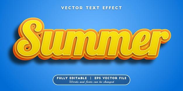 여름 텍스트 효과, 편집 가능한 텍스트 스타일