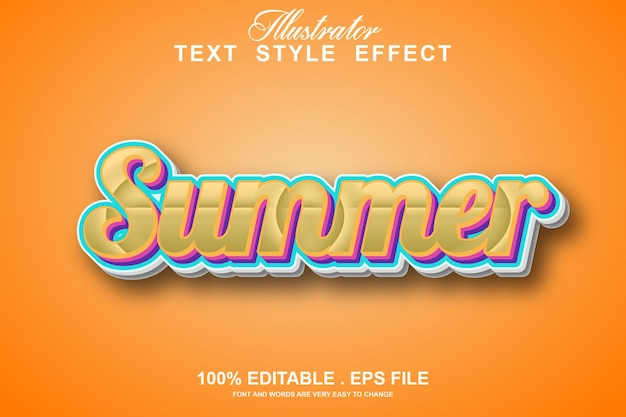 Summer text effect editable