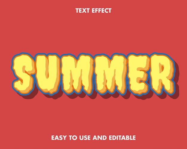 여름 텍스트 효과 현대적인 스타일.