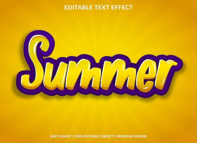여름 텍스트 효과 템플릿